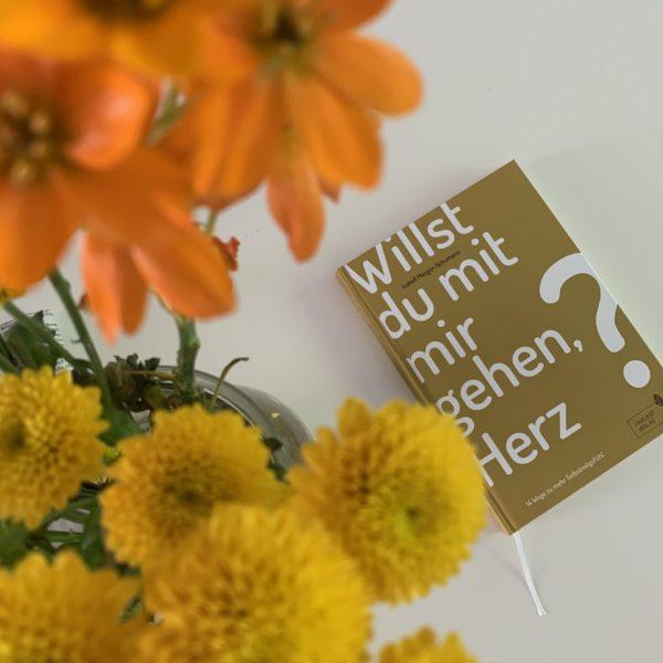 Willst du mit mir gehen Herz Buch Selbstliebe Blumen